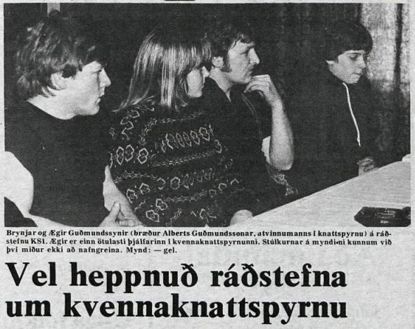 Úr Þjóðviljanum, 28. janúar 1981. Textinn við myndina segir ansi mikið